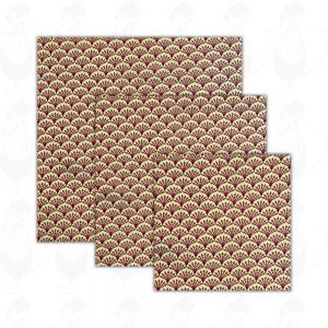 3-pack | Beeswax Wrap Kiwi - Cheese Wrap - Dooek | 20x20 * 25x25 * 30x30 cm
