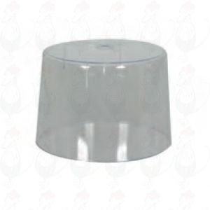Osteklokke beregnet til girolle med metalplade og osteskærer.