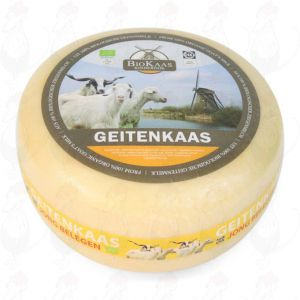 Økologisk Gedeost | Premium kvalitet| Hel ost 5,4 kilo