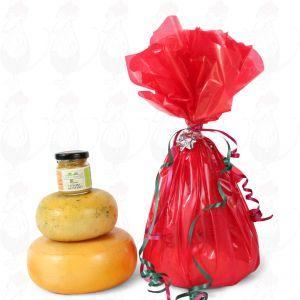 Farmhouse oste og sennep gave - Rød