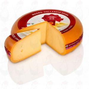 Extra Matured North Holland Gouda cheese with the Red Seal