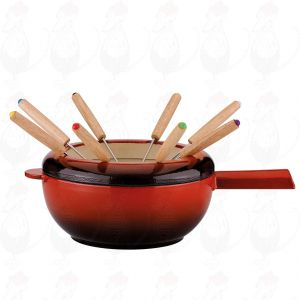 Fondue Pot Saas-Fee   Red