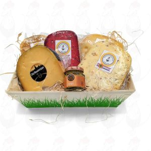 Gouda Cheese wooden basket