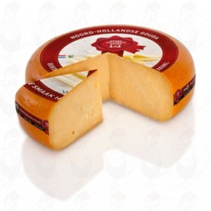 Very old North Holland Gouda cheese with the Red Seal | Entire cheese 13 kilo / 28.6 lbs