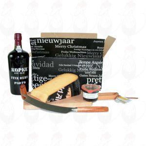 Port Geschenk met extra kwaliteit Hollandse oude Kaas