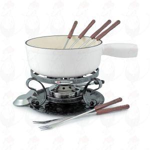 Swissmar Lugano 9 PC Matte white Cheese fondue set