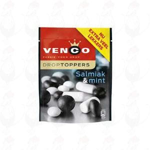 Venco Droptoppers Salmiak & mint 287 gram