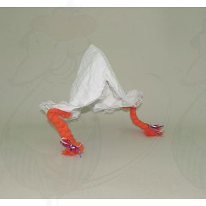 Hul with orange braids