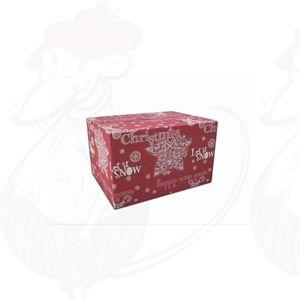 Forsendelsesboks Jul Rød