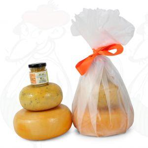 Boerenkaasjes en mosterd geschenk - wit