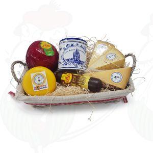 Hollandsk gavebasket ost og sødt