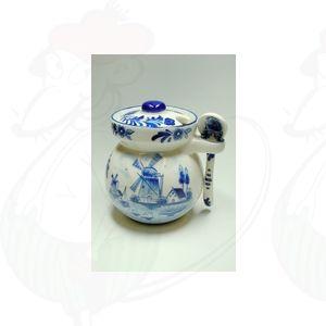 Delft Blauwe Honingpot met Lepel