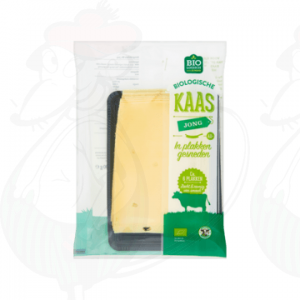 Sliced Organic Cheese Young 48+ | 190 grams in slices