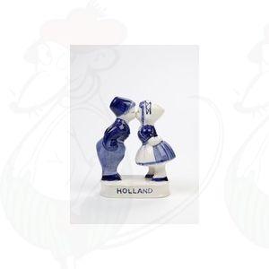 Delft Blauwe Boer en Boerinnetje - Kussend Paartje