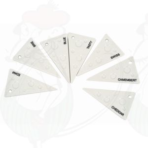 Cheese labels porcelain set of 7 - Salt and Pepper