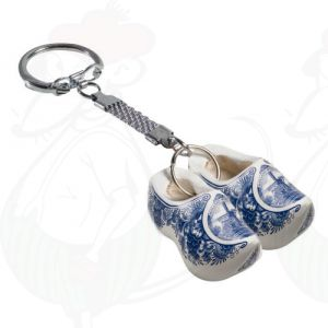 Keychain with 2 Delft Blue Clogs
